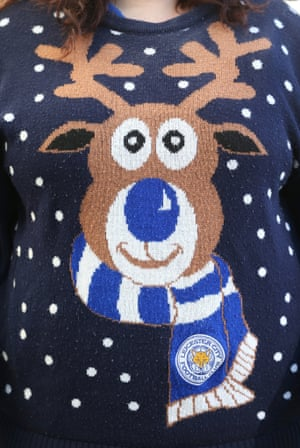Another snazzy christmas jumper, though this one also has a Leicester City theme