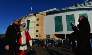 Santa also put in an appearance at Stamford Bridge and proved that you're never to old to get your photo taken with him