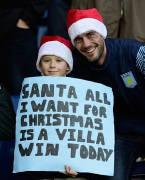 Unfortunately for this pair of Aston Villa fans their Christmas was ruined by former Villa player Craig Gardner