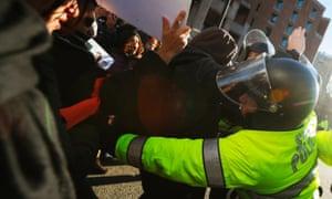 Boston police protesters