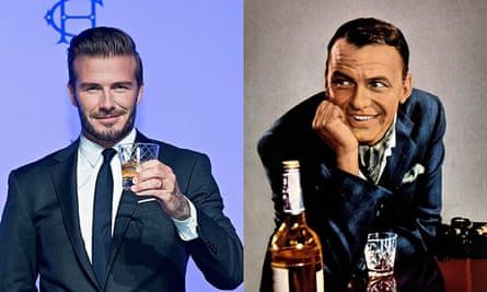 David Beckham Frank Sinatra scotch whisky bourbon