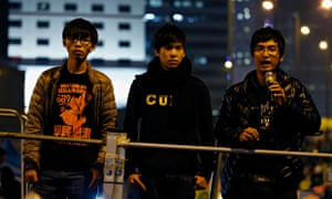 Joshua Wong, Lester Shum and Alex Chow
