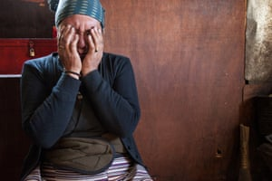 Khumjung.Chhamji Phuti Sherpa, 53, cries over her dead son, Lhakpa Sherpa, 24, in her rented home in Khumjung. She says mountaineering is a very dangerous job but her son needed to pursue this work to support the family, not having any other options, making mountaineering an important way to support families. Lhakpa Sherpa worked as a cook, earning 120,000 rupees ($1,200) per summit.