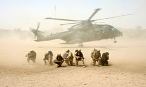 British military helicopter lands in Iraq