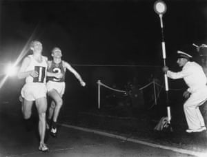 1954 Chris Chataway The first winner of the award is pictured breaking the world 5,000 metre record at White City in London. His Russian rival Vladimir Kuts is just behind him