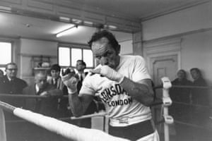 1970 Henry Cooper English heavyweight boxer Henry Cooper shadow boxing at the Thomas a Becket gym.  It was Cooper's second win as he previously took the title in 1967
