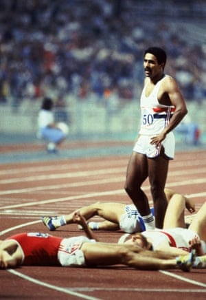 1982 Daley Thompson After completing the 1500m discipline of the Decathlon at the 1982 European Athletics Championships in Athens Daley Thompson won gold and set a new world record