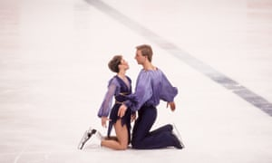 1984 Torvill and Dean Jayne Torvill and Christopher Dean during their famous gold winning Bolero routine at the 1984 Winter Olympics in Sarajevo