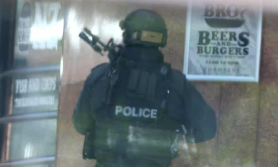 Siege in Martin Place Sydney this afternoon, Monday 15th December 2014.