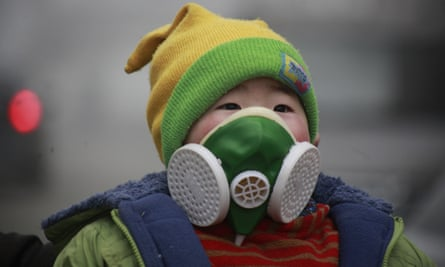 Heavy-duty face masks are now frequently seen on Beijing's streets.
