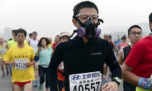 October's Beijing marathon saw many competitors drop out because of the pollution levels.