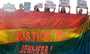 Philippine protest about death of transgender woman Jennifer Laude