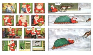 Illustrations fromn Raymond Briggs's book Father Christmas.