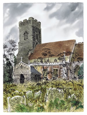 Huntingfield Church by David Gentleman