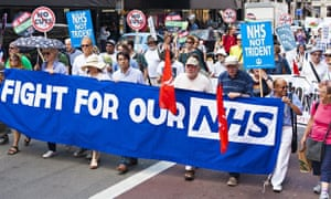 A march against NHS cuts