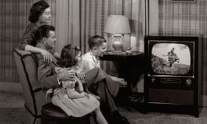 Family viewing from the 1950s.