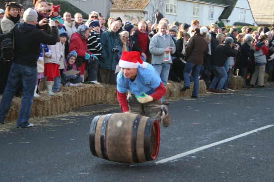 Boxing Day Grantchester Barrel Rolling