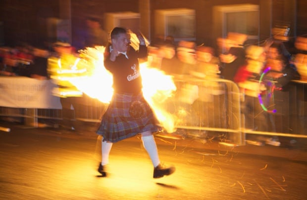 The Fireball Ceremony at Hogmanay, Stonehaven, Aberdeenshire