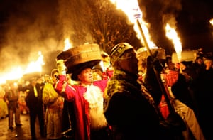 Allendale Tar Barrel festival on December 31