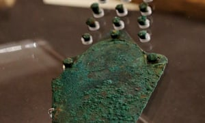 A view of the bronze dagger found with the skeleton known as Racton Man.