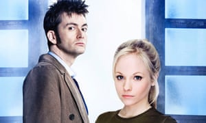 Time traveller: as Doctor Who with wife Georgia Moffett when they appeared together in the series in 2008.