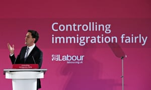 Labour leader Ed Miliband delivers a speech on immigration in Dec 2014