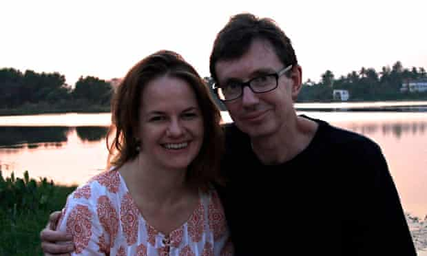 'As the sun set on the lake we were filled with hope': Catherine and Angus on their 2013 trip.