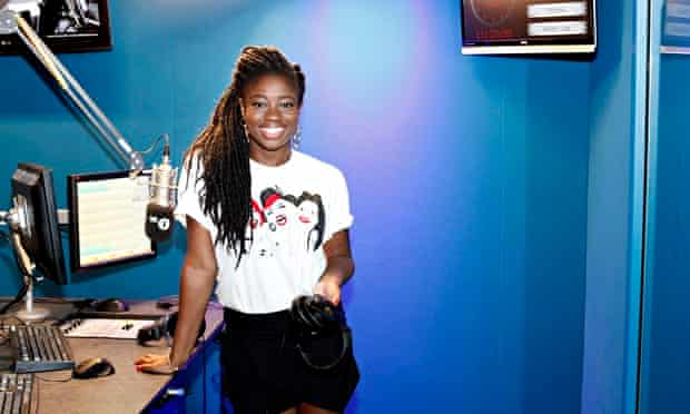 Clara Amfo in the BBC studio.