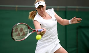 Elena Baltacha at her last Wimbledon championships in 2013.