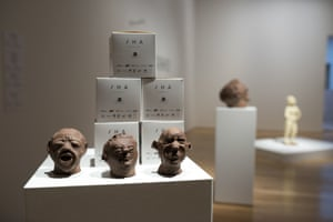 Part of the Artes Mundi exhibition with Martens's chocolate sculptures in Cardiff.
