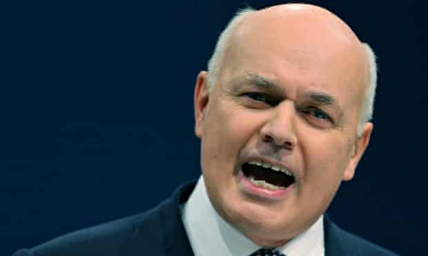 Department of Work and Pensions secretary Iain Duncan Smith.