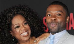 David Oyelowo with Oprah Winfrey at the Selma premiere in New York.