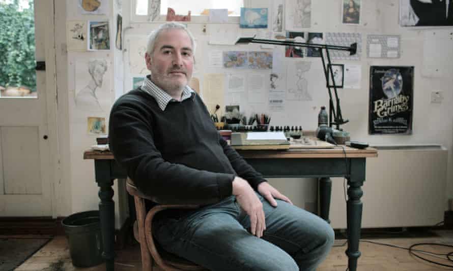 Chris Riddell in his studio in Brighton.