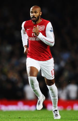 Thierry Henry in his trademark over-the-knee socks