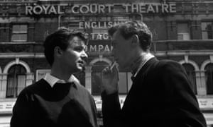 John Osborne, right, with Kenneth Haigh who played Jimmy Porter in Look Back in Anger in 1956.
