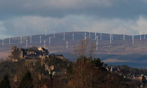 Wind turbines turn at the Braes of Doune Wind Farm near Stirling Castle, Scotland December 5, 2014.