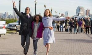 Annie idea when this is over? ... Jamie Foxx, Quvenzhane Wallis and Rose Byrne in Annie