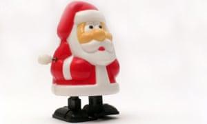 Wind up Santa toy