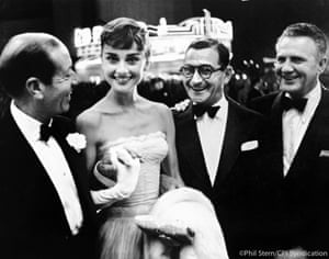 Audrey Hepburn with Cole Porter and Irving Berlin, early 1950s