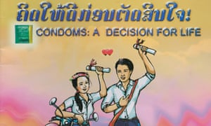 The cover of a comic book distributed to health centres and schools in Laos.