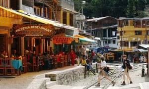 A street in Aguas Calientes