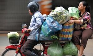 Motorbike in Phnom Penh
