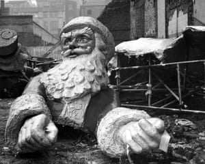A  plaster model of Santa Claus