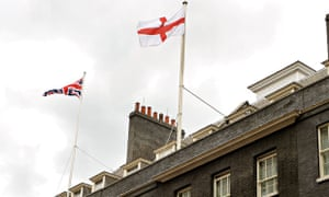 Flag of St George flying at No 10 Downing Street