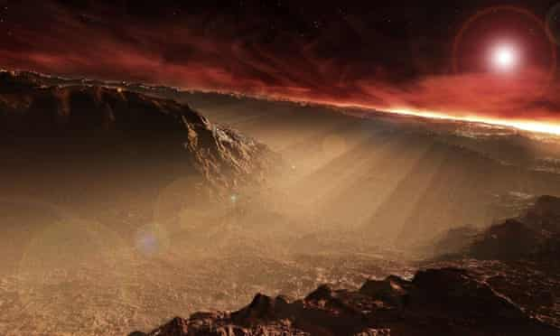 The sun rises over Gale Crater on Mars where the Curiosity rover detected the methane fluctuations