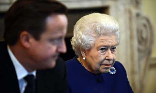 The Queen with David Cameron, who talked to her about the Scottish referendum on a visit to Balmoral