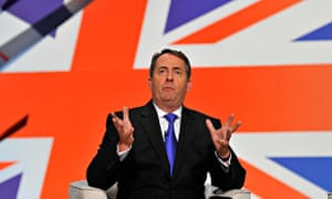 Liam Fox speaks at the Conservative party conference in 2010