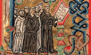 Illuminated manuscript monks singing