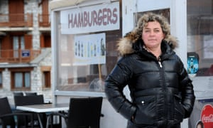 Valerie Maertens, manager of La Cabane, a chip stall located in front of a building where L'Oreal millionaire Lindsay Owen-Jones owns a flat.