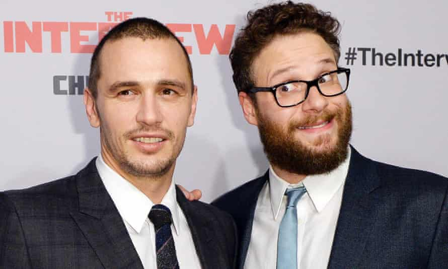 James Franco and Seth Rogen at the Los Angeles premiere of The Interview on 11 December.